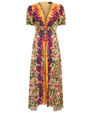 Lea Champagne Berries long silk dress SALONI