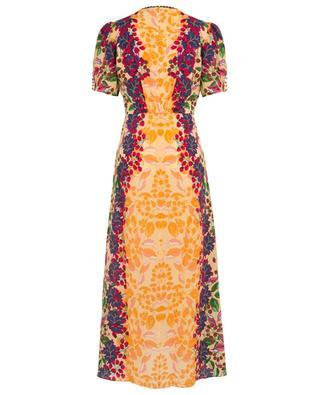 Lea Champagne Berries long silk dress SALONI