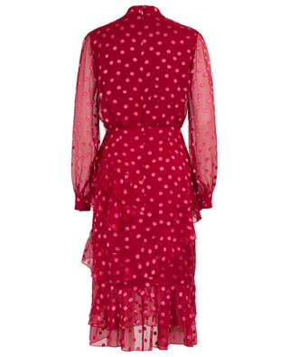 Isa Ruffle Polka Dot Devore dress SALONI