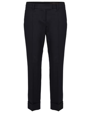 Flannel stretch slim fit trousers WINDSOR