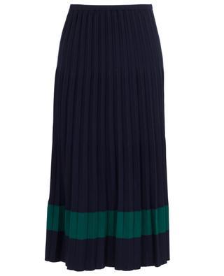 Pleated midi knit skirt WINDSOR