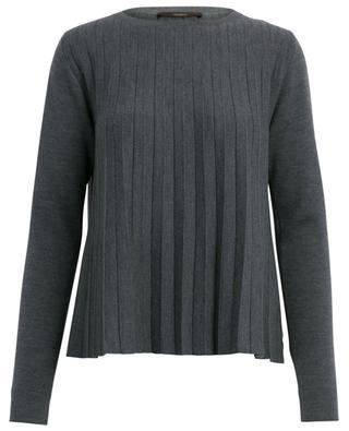 Kurzer plissierter Pullover aus Schurwolle WINDSOR