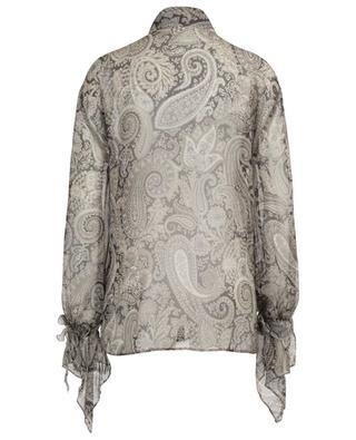 Bluse aus Seidenmuslin mit Glockenärmeln und Paisley-Print ETRO