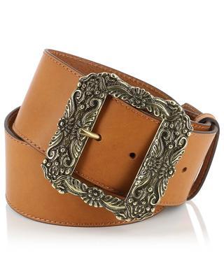 Leather belt with metallic buckle ETRO