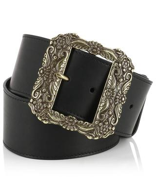 Leather belt with metallic buckle ETRO