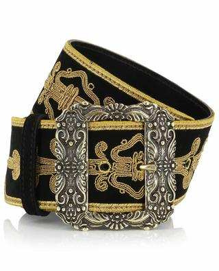 Embroidered suede belt ETRO