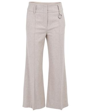 Cropped wide-leg flannel trousers SCHUMACHER