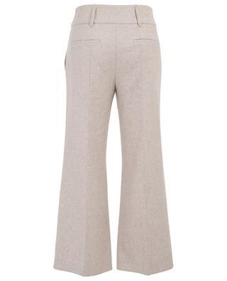 Pantalon large raccourci en flanelle SCHUMACHER