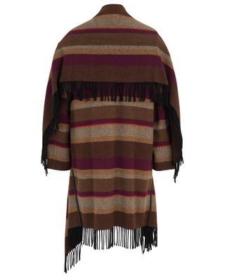Cosy Fringes striped cape spirit coat SCHUMACHER