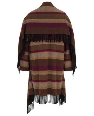 Cosy Fringes striped cape spirit coat DOROTHEE SCHUMACHER