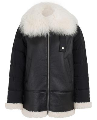 Voyage Comfort oversized bomber jacket with shearling SCHUMACHER