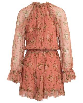 Espionage floral short silk dress ZIMMERMANN