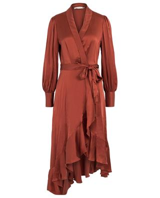Espionage Midi silk wrap dress ZIMMERMANN