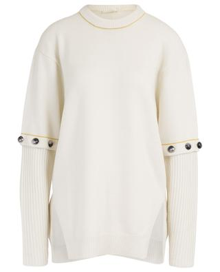 Couple loose jumper with buttoned sleeves CHLOE