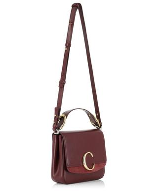 Small Chloé C shiny leather and suede bag CHLOE