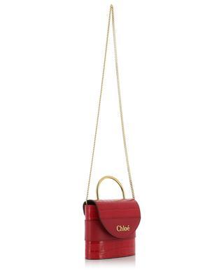 Aby Lock Small croc effect leather handbag CHLOE