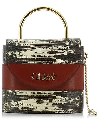 Aby Lock Small lizard effect leather handbag CHLOE