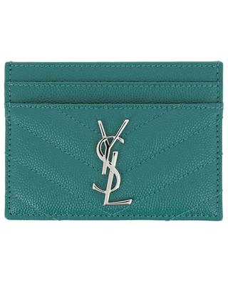 Kartenetui aus Grain-de-Poudre-Leder Monogram SAINT LAURENT PARIS