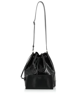 Monogram All Over bucket bag in patent leather SAINT LAURENT PARIS