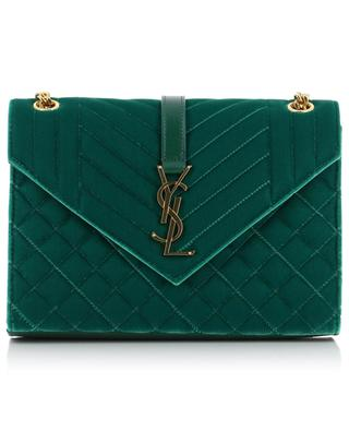 Envelope Medium quilted velvet bag with leather SAINT LAURENT PARIS