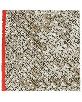 TB Monogram cotton and silk scarf BURBERRY