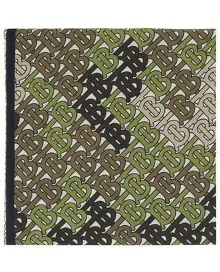 TB Monogram cotton and silk scarf BURBERRY