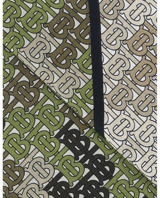 Foulard en coton et soie TB Monogram BURBERRY
