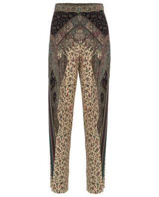 Pantalon large fluide en soie motif paisley ETRO