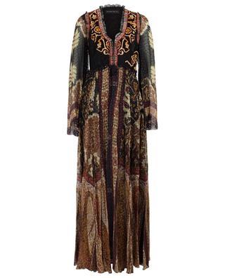 Robe longue à motifs et broderies ETRO