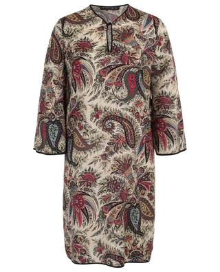 Wool tunic dress with paisley print ETRO