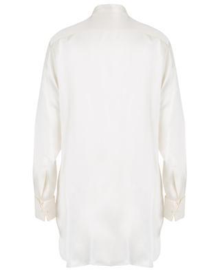 Chemise en soie avec plastron en jacquard fil coupé ETRO