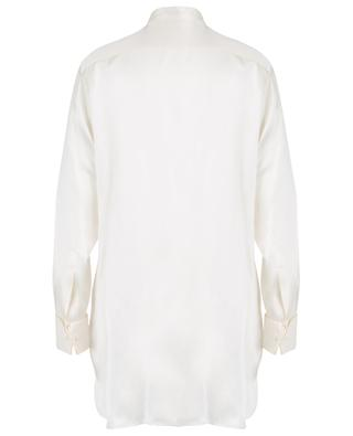 Silk shirt with fil coupé jacquard bib ETRO