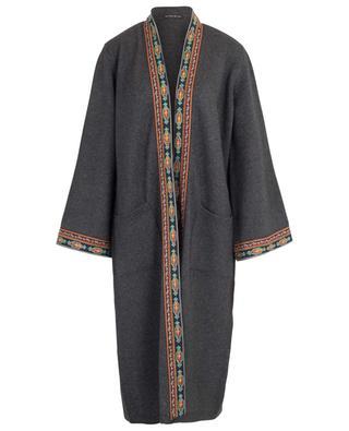 Offener Cardigan aus Wolle und Kaschmir mit Stickereien ETRO