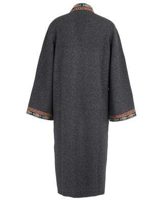 Wool and cashmere open cardigan with embroideries ETRO