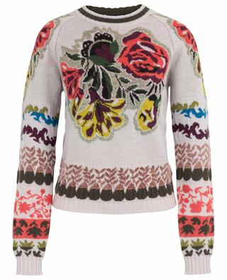 Floral jacquard jumper with raglan sleeves ETRO