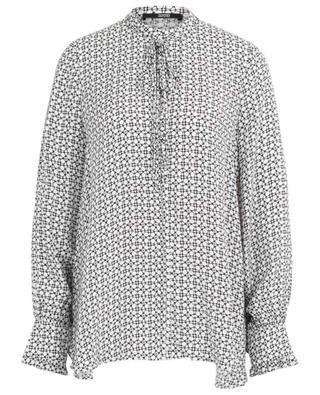 Oversize-Bluse aus Seide mit Grafik-Print SLY 010