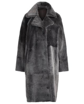 Reversible shearling coat with magnet buttons SLY 010