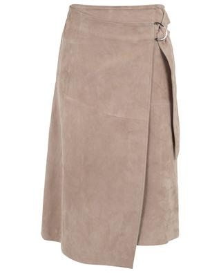 Wrap effect suede midi skirt SLY 010