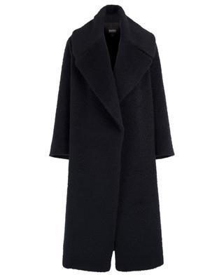 Lässiger Mantel aus gebürsteter Wolle SLY 010