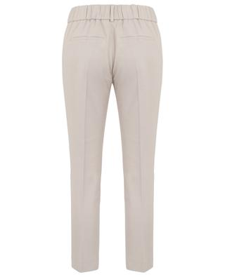Cropped fluid trousers with elasticated waist SLY 010