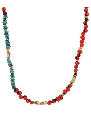 Halskette aus Samen und Türkis Vao GAS BIJOUX