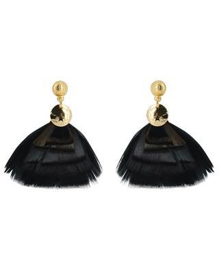 Boucles d'oreilles ornées de plumes véritables Bermudes Mini GAS BIJOUX