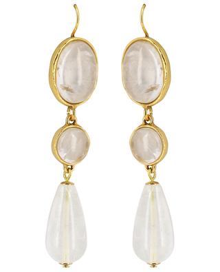 STON 23 quartz adorned hook earrings POGGI