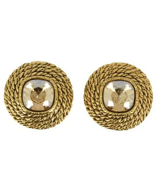 ELO 3 rope effect ear clips with crystals POGGI