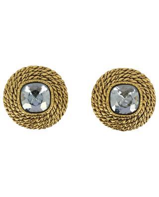 Clips d'oreilles effet corde avec cristaux ELO 3 POGGI