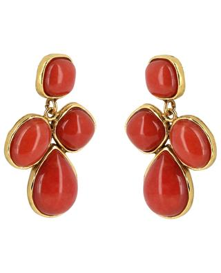STON 7 earrings with four cabochons POGGI