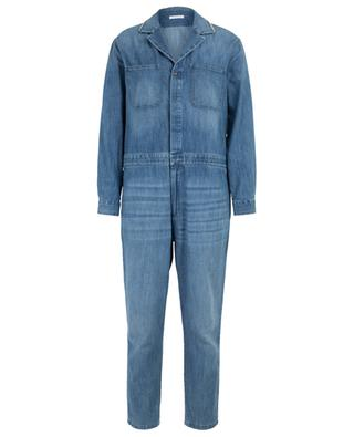Denim overall wit embroidered collar FABIANA FILIPPI