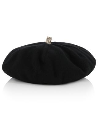 Bonnie cashmere beret with rhinestone INVERNI FIRENZE