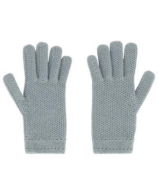 Honeycomb textured cashmere gloves INVERNI FIRENZE