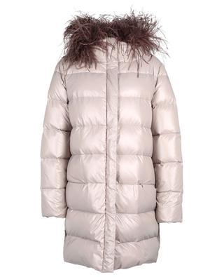 Down jacket with removable fringe collar FABIANA FILIPPI